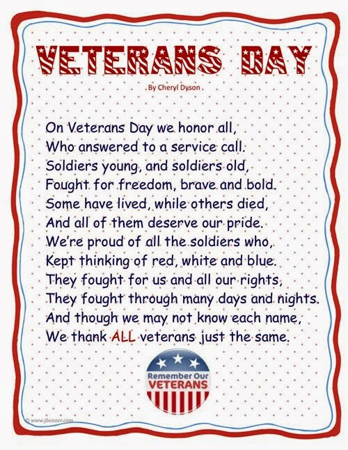 Meaning Patriotic Poems For Veterans Day
