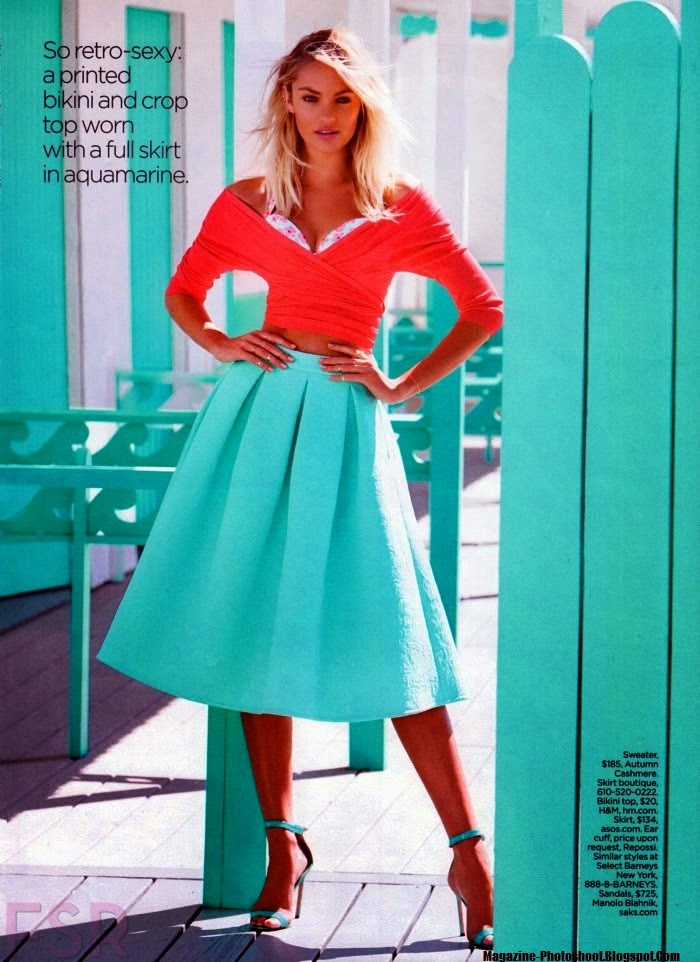 Candice Swanepoel HQ Pictures Lucky  Magazine Photoshoot June/July 2014 By