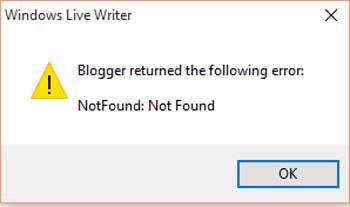 open live writer erreur