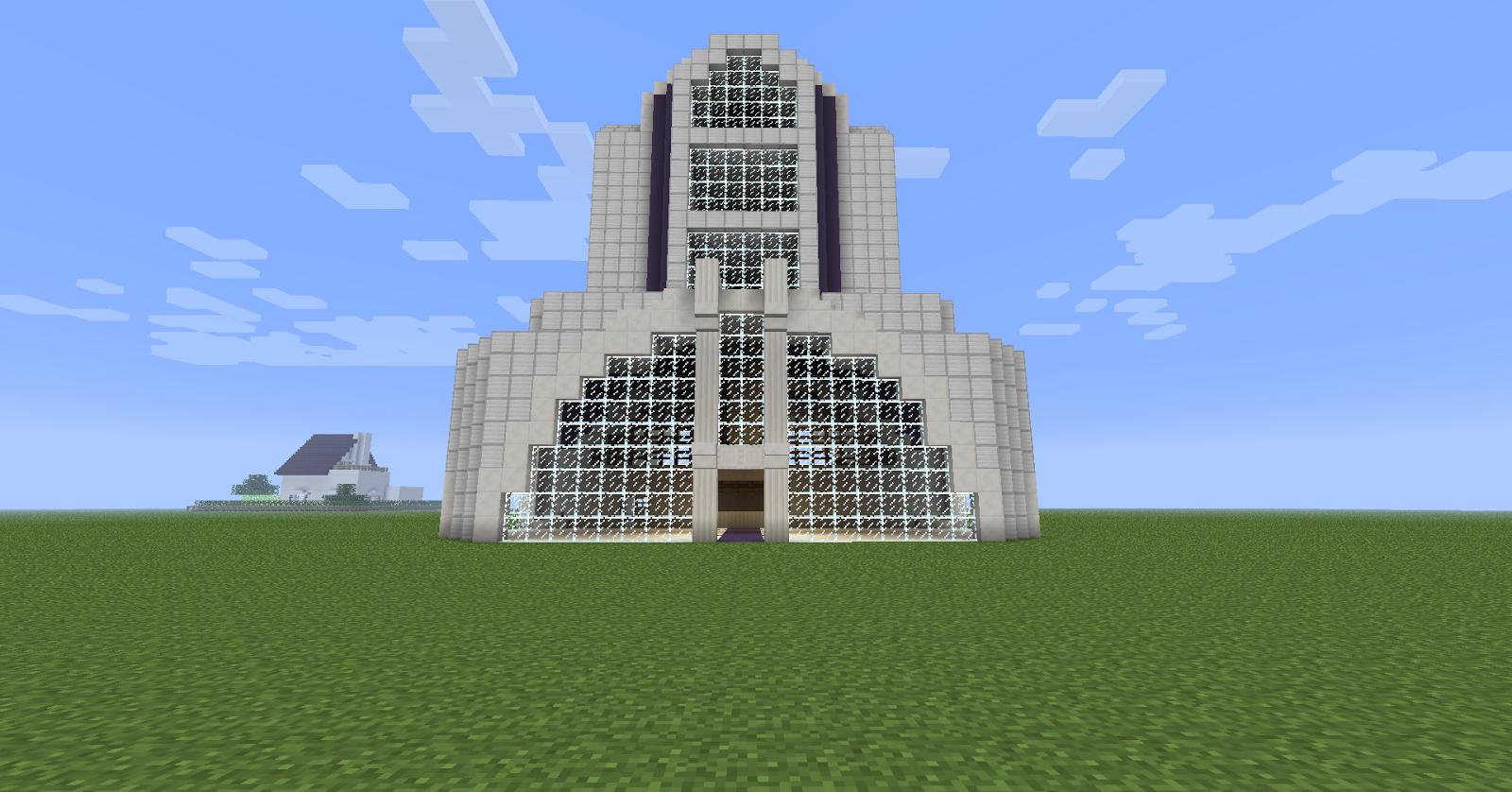 Fr minecraft: immeuble moderne blanc à télécharger