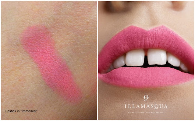 illamasqua i'm perfection collection swatch of lipstick