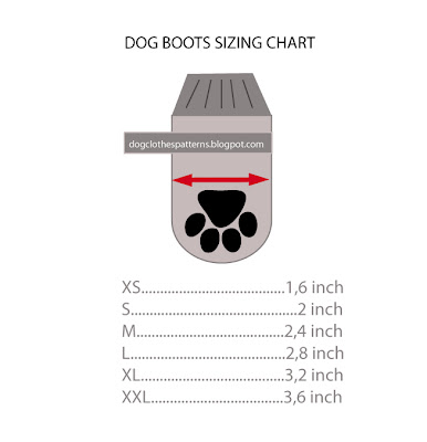 dog boots sizing chart