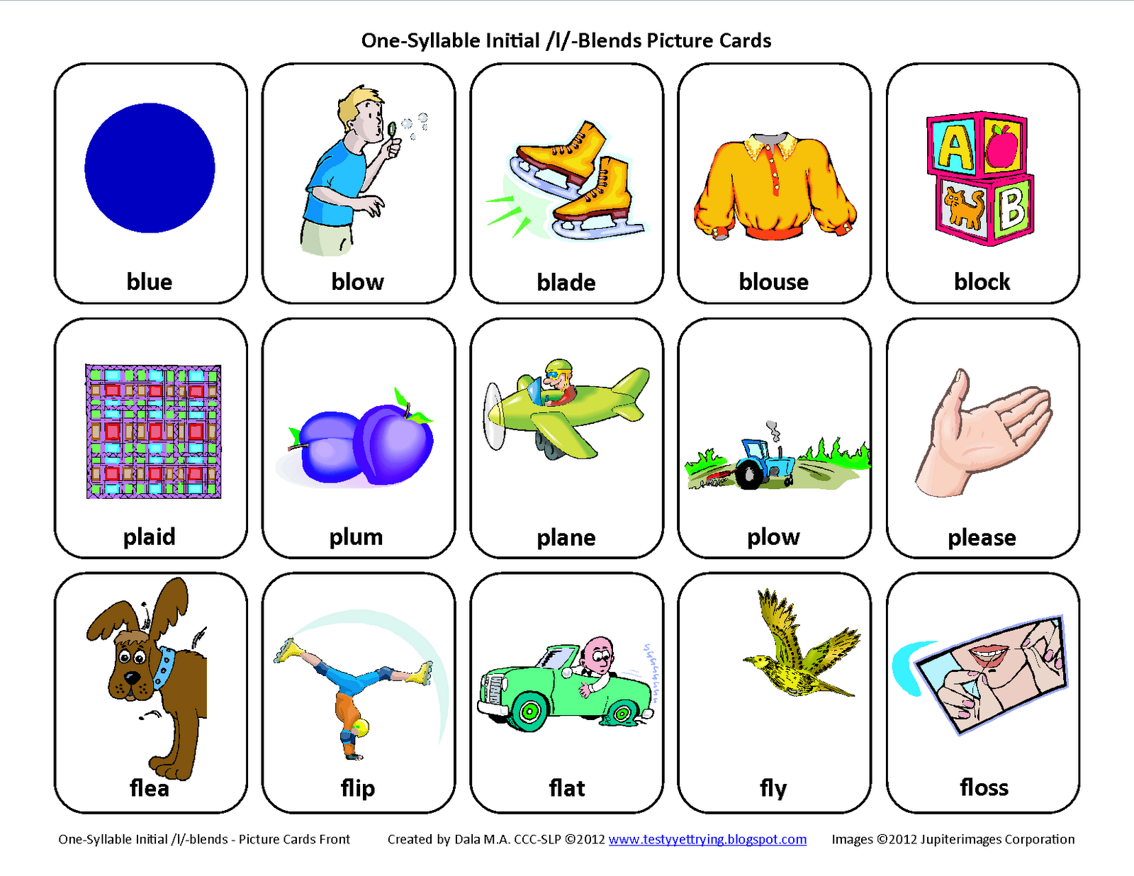 S blend articulation homework