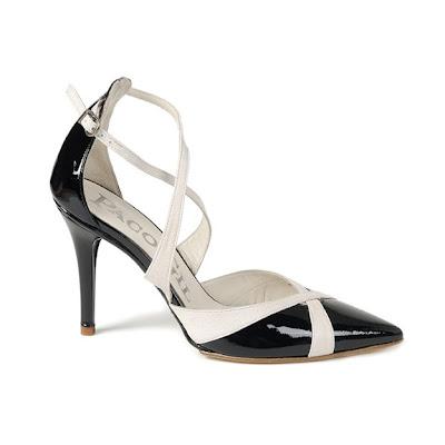 zapato negro y blanco