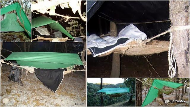 Usos de la hamaca de Quercus V1.0 para dormir al aire libre en cualquier lugar donde haya árboles