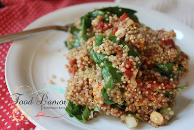 Quinoa with Roasted Balsamic Tomatoes
