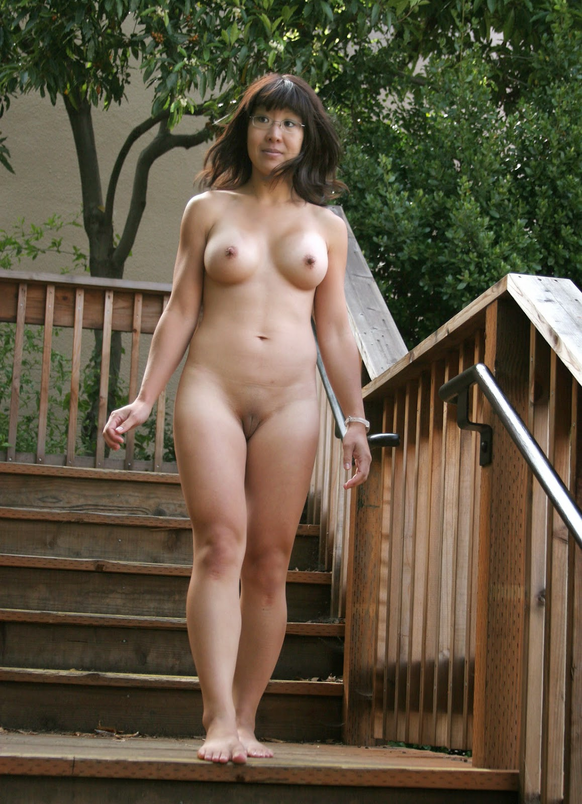 Korean milf naked spank that
