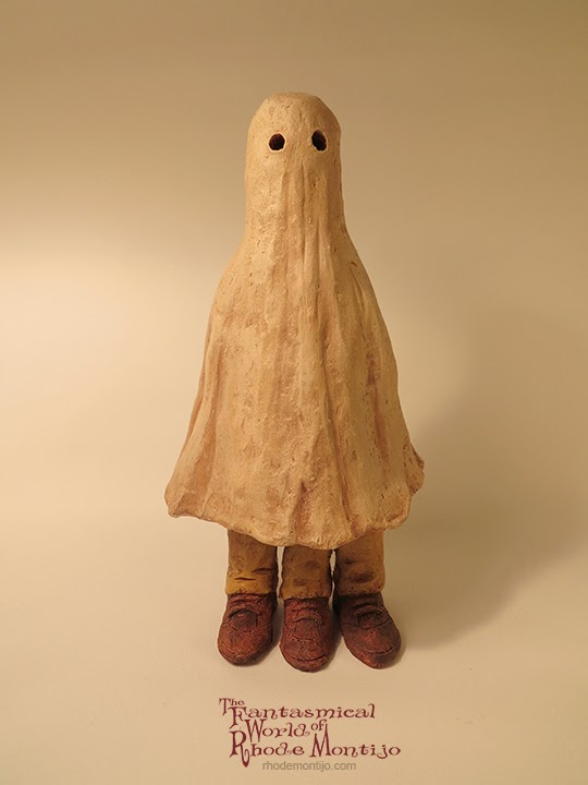 Ghost? Halloween Ceramic Folk Art by Rhode Montijo