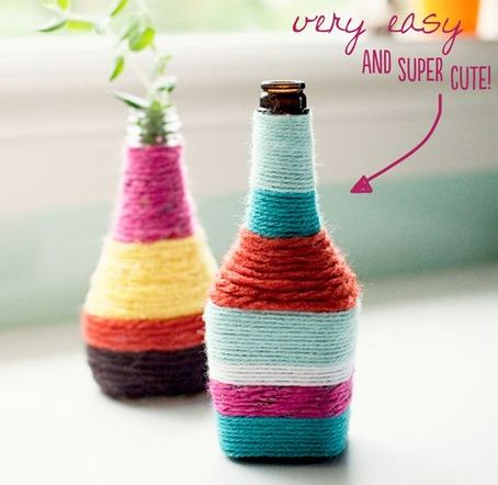 decorar con botellas de vidrio