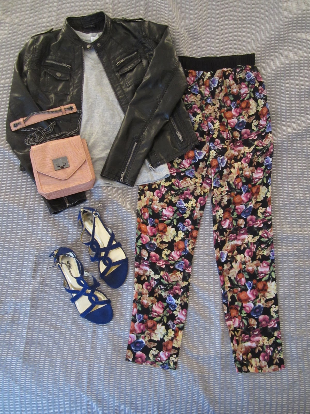 how to wear a floral leather jacket