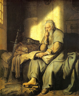 Christian bloggers, blogs about theology, philosophy blog, theology of ministry, photo of Saint Paul in prison