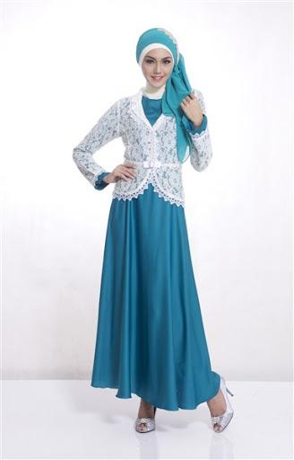 Trend Baju Muslim Brokat Model Gaun Pesta Terbaru 2017 2018