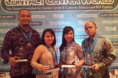 penghargaan bank BNI dalam ajang Contact Center World