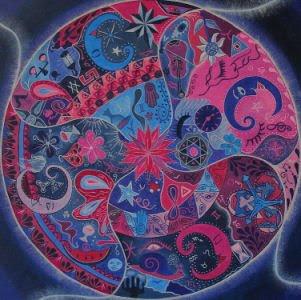 Mandala - oleo / canvas