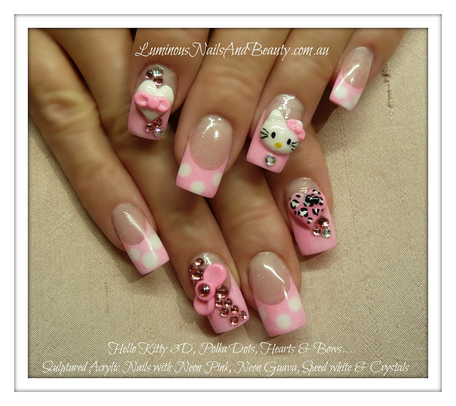 The Appealing Leopard print fake nail designs Photo
