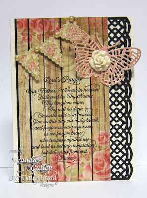 Our Daily Bread Designs Stamp sets: Lord's Prayer Script, ODBD Custom Dies: Pennant Row, Fancy Fritillary, Beautiful Borders
