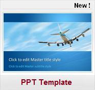 avion voyage vol tourisme Free PPT Template