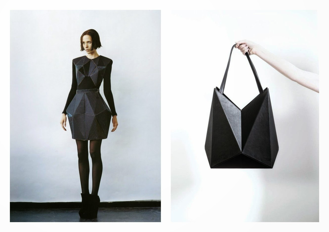 Origami And Geometric Clothing Black Hex