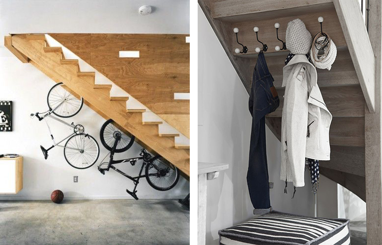 La fabrique d co escaliers et rangement conseils pour optimiser l 39 espace for Penderie sous escalier