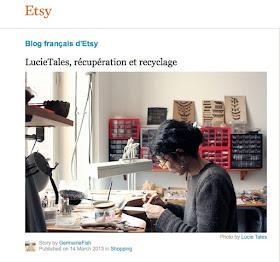 Entretien sur Etsy / Etsy featured seller