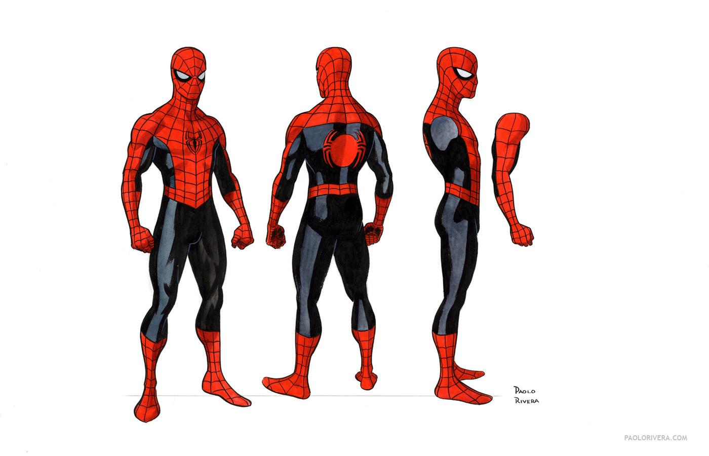 Spiderman cartoon standing - photo#14