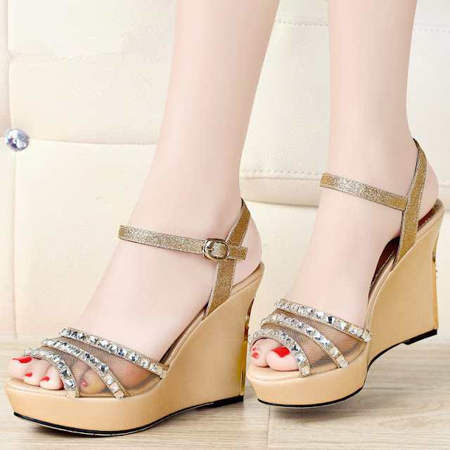latest design women wedge shoes high heel shoes images hd