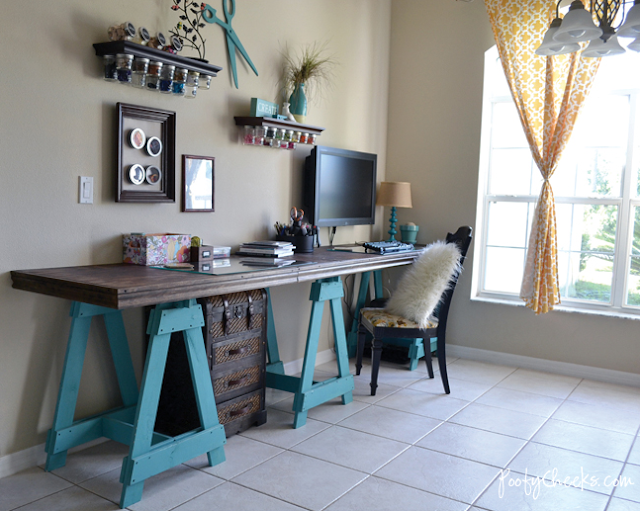 Craft room reveal by Poofy Cheeks via Funky Junk Interiors