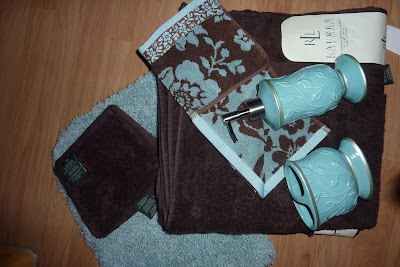 Colors of curacao brown aqua bathroom color inspiration for Turquoise and brown bathroom accessories