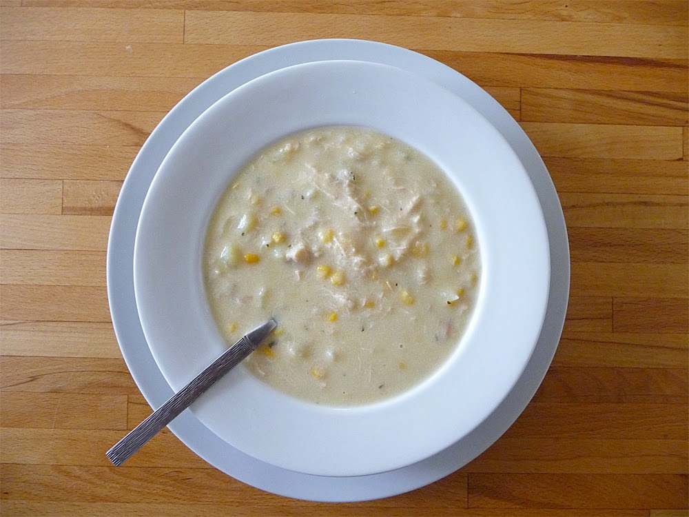 Lancashire Food: Chicken sweetcorn and tarragon chowder