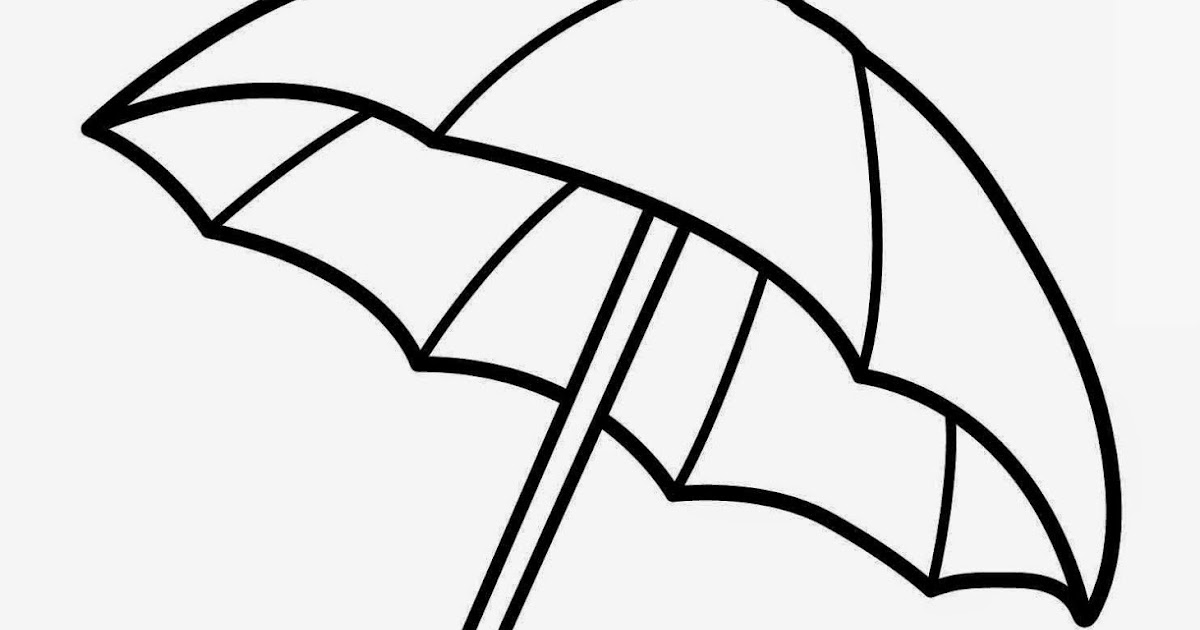 Free Printable Umbrella Coloring Pages