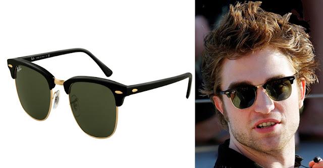 Robert Pattinson con gafas de sol Ray Ban Clubmaster y modelo Clubmaster de Ray Ban