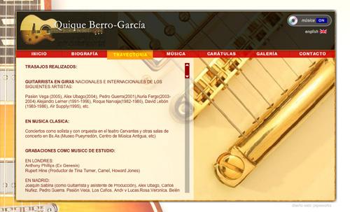 página web del músico y guitarrista Quique Berro-García (guitarra acústica, eléctrica y española)