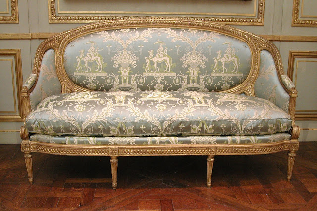 Sofa (part of a set) Louis Delanois, ca. 1770–75   stamp - S. BRIZARD  The Metropolitan Museum of Art, New York