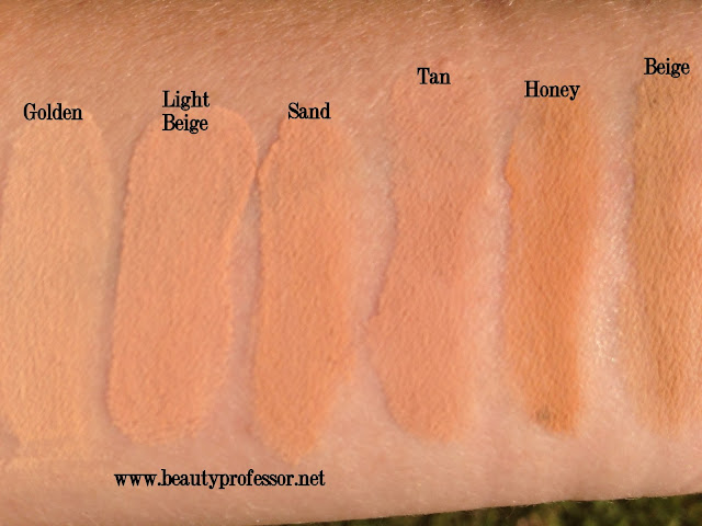 Hourglass immaculate foundation swatches