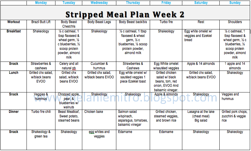 833 x 503 png 123kB, Committed to Get Fit: Stripped Meal Plan Week 2