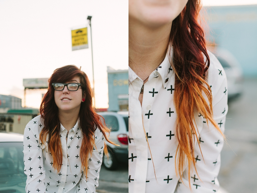 model, girl, woman, punk, light, photography, portrait, ombre, hair, curls