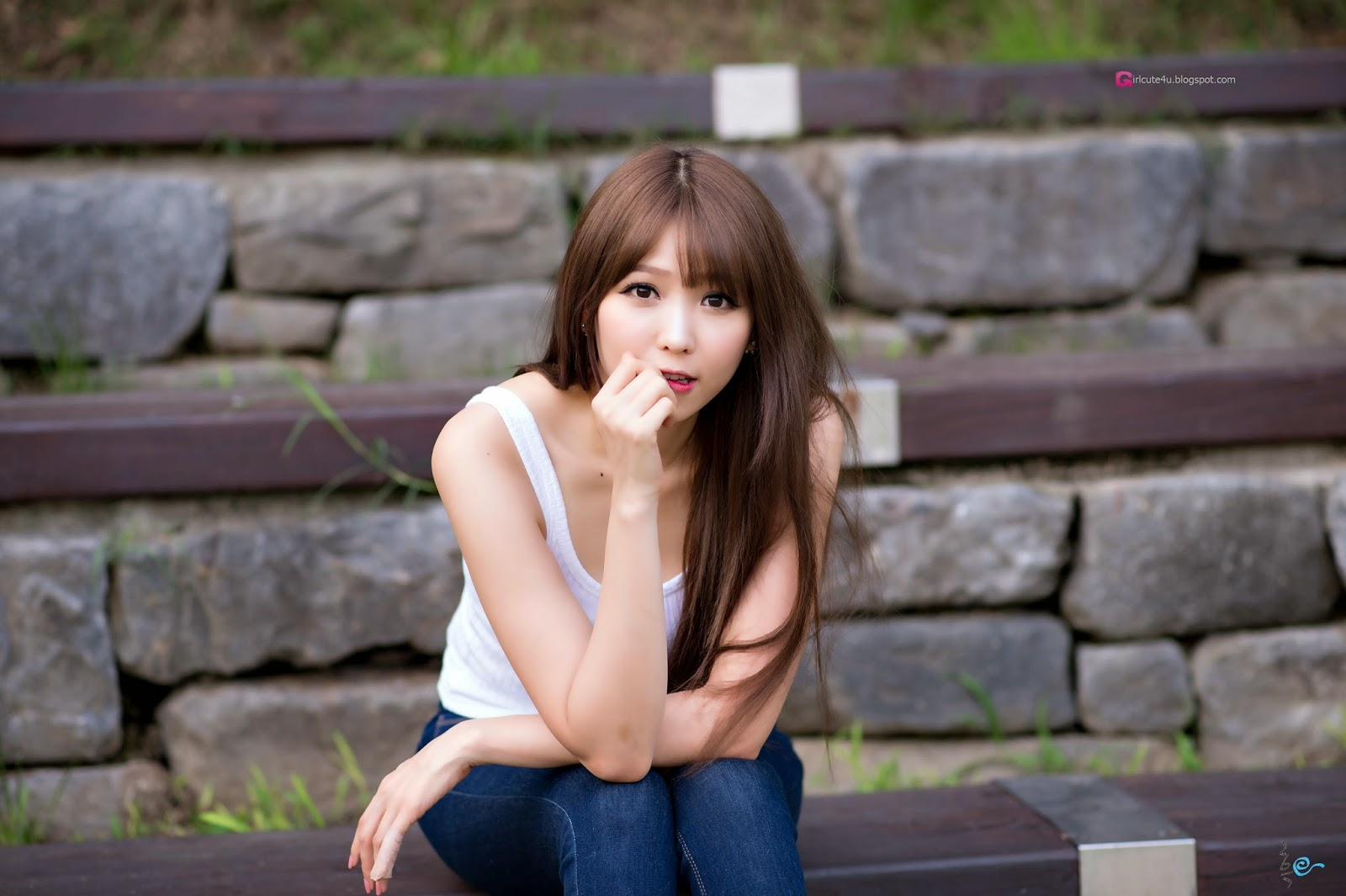 1 Lovely Lee Eun Hye In Outdoor Photo Shoot - very cute asian girl - girlcute4u.blogspot.com