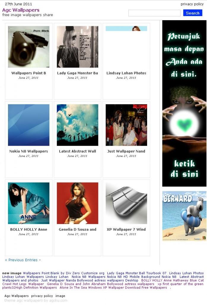 Agc Wallpapers Wordpress Theme << Free Download Templates