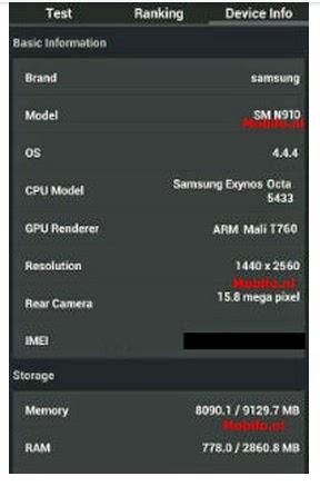 Galaxy Note 4 Özellikleri Ortaya Çıktı