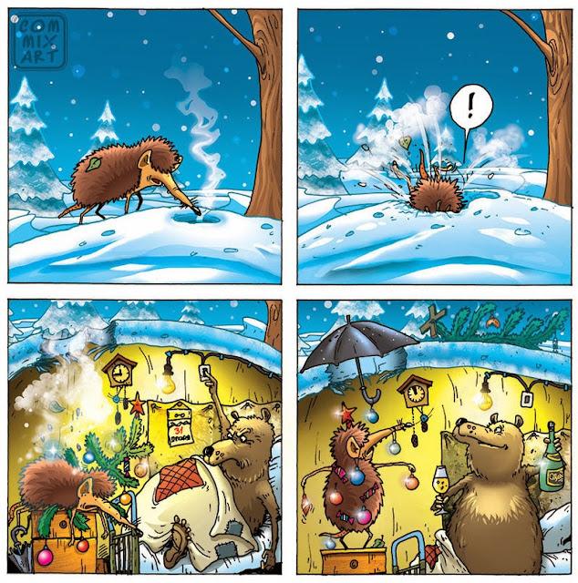 ежик и медведь
