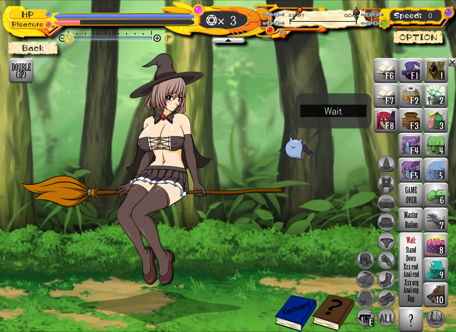 image Witch girl game over scene 1 plant test