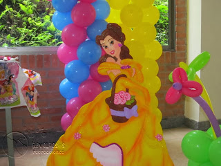 DECORACION CON GLOBOS PRINCESAS DISNEY
