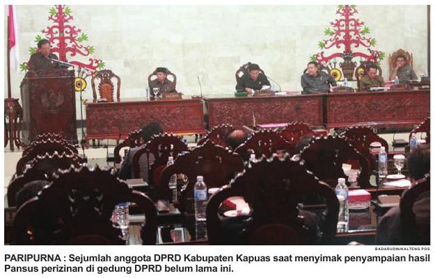Panitia Khusus DPRD Kabupaten Kapuas Menerima Gratifikasi