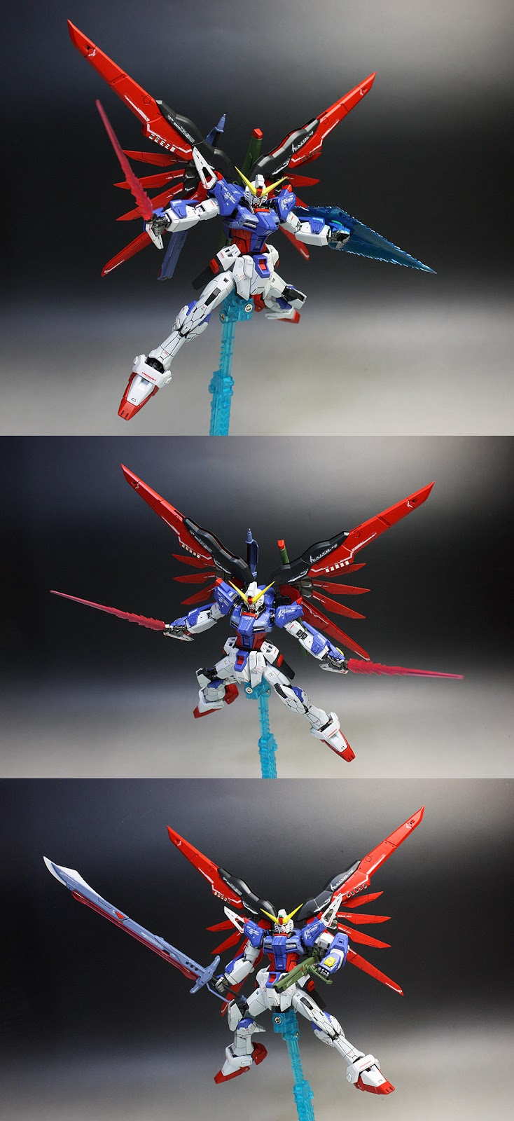 gundam guy rg 1 144 destiny gundam painted build by zgmfxg. Black Bedroom Furniture Sets. Home Design Ideas