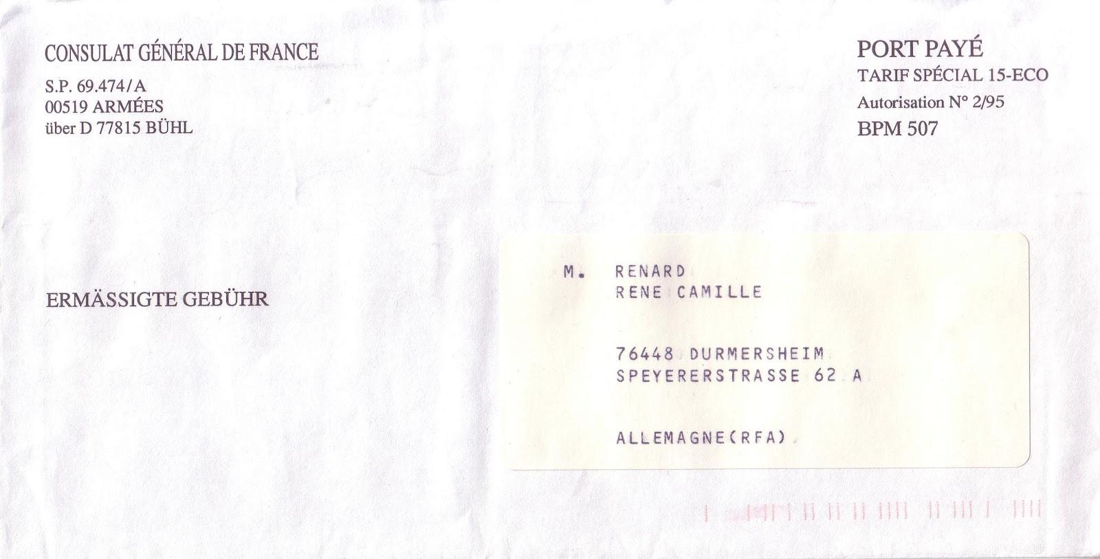 La poste aux armees un tarif r duit pour les forces fran aises en allemagne suite - Consulat de france port gentil ...