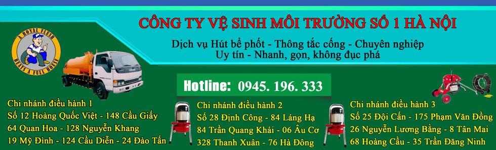 Hút bể phốt giá rẻ nhất tại Hà Nội LH: 0945.196.333