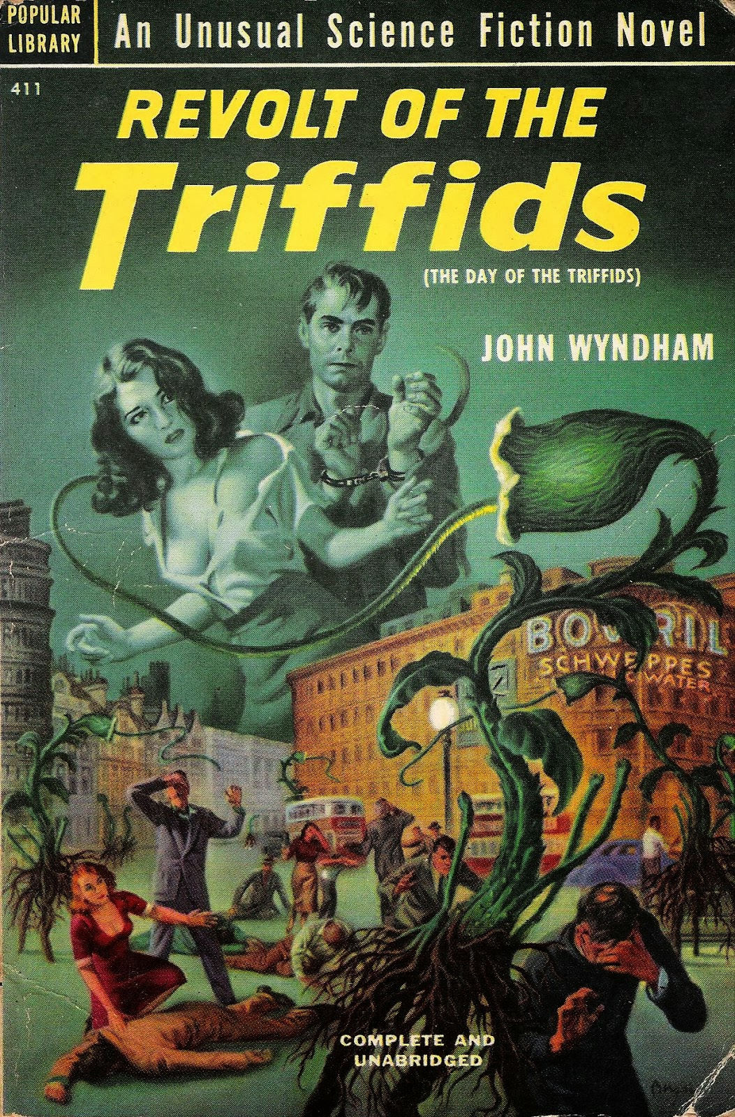 day of triffids One such survivor, an american seaman (howard keel) whose eyes were  bandaged during the meteorite impact, battles his way through the triffid ranks.