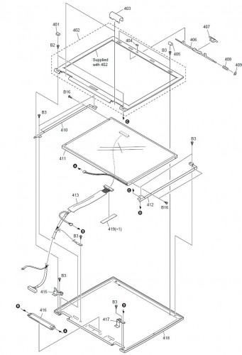 Diagram Parts Sony Vaio Cover