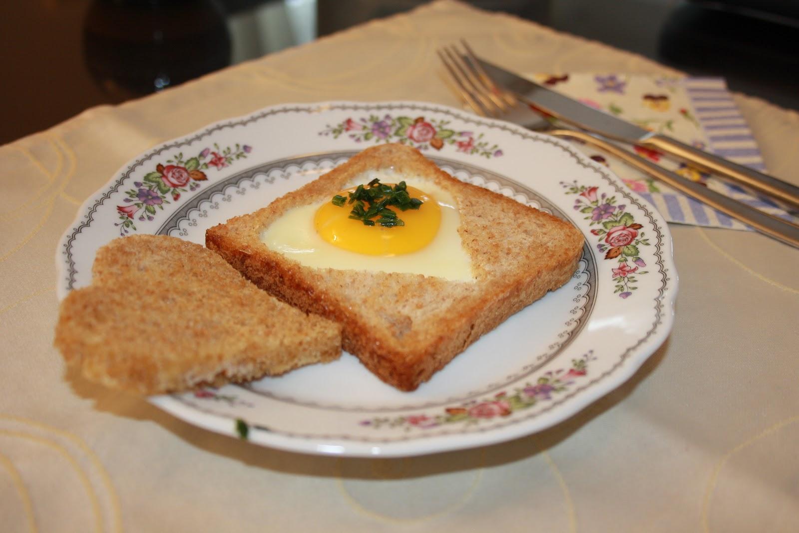 kulinarik.labor: Spiegelei im Toast