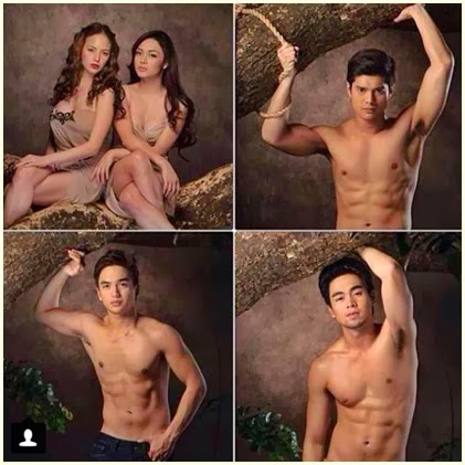 Moon of Desire hotties: Ellen, Meg, JC, Dominic Roque and Miko Raval